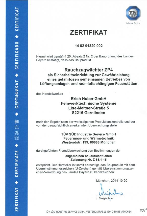 ZP4-T-V-Zertifikat